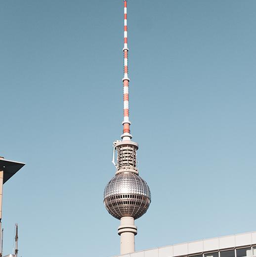 Fotografie des Berliner Fernsehturms